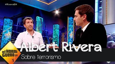 """Albert Rivera: """"Me da pena que Podemos no quiera firmar el pacto antiterrorista"""" - El Hormiguero 3.0"""
