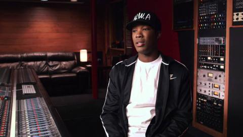 """Straight Outta Compton: Corey Hawkins """"Dr. Dre"""" Behind the Scenes Movie Interview"""