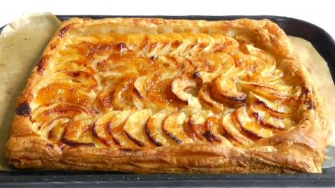 How to Make Apple Tart with puff pastry Easy recipe