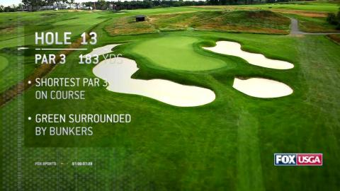 Drone footage of Oakmont Country Cub Hole 13 – U.S Open Golf