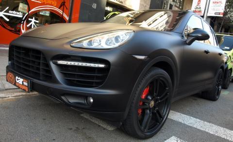 Negra Mate! Porsche Cayenne Turbo toda en Negro! Car Wrapping by Pronto Rotulo