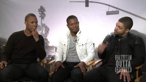 Straight Outta Compton: O'Shea Jackson Jr., Corey Hawkins & Jason Mitchell Official Interview
