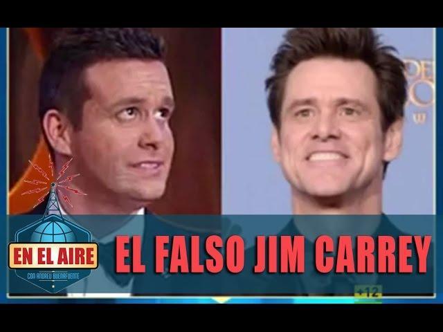 El falso Jim Carrey que se coló en los Oscar checos - En el aire