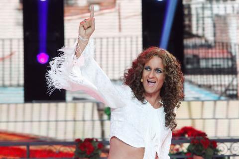 Edu Soto imita a Rosario Flores en 'Tu cara me suena'