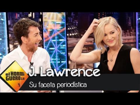 Jennifer Lawrence saca su faceta más periodística - El Hormiguero 3.0