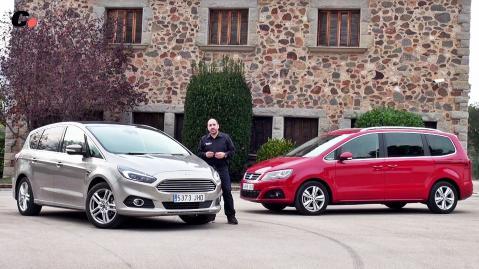 Ford S-Max vs Seat Alhambra - Prueba comparativa monovolumen coches.net / Test / Review en español