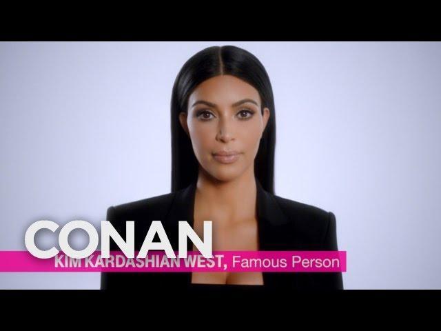 Kim Kardashian's Super Bowl Ad World Premiere  - CONAN on TBS