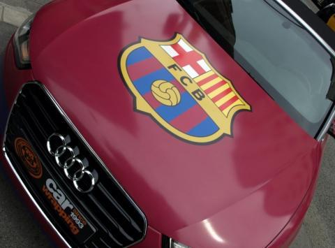 Y este Audi A5 con el escudo del FC Barcelona? para que será? Car Wrapping by Pronto Rotulo