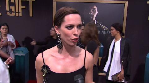 """The Gift: Rebecca Hall """"Robyn"""" Red Carpet Movie Premiere Interview"""