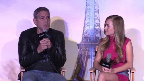 Tomorrowland: Shanghai Tour Press Conference - George Clooney, Britt Robinsonm