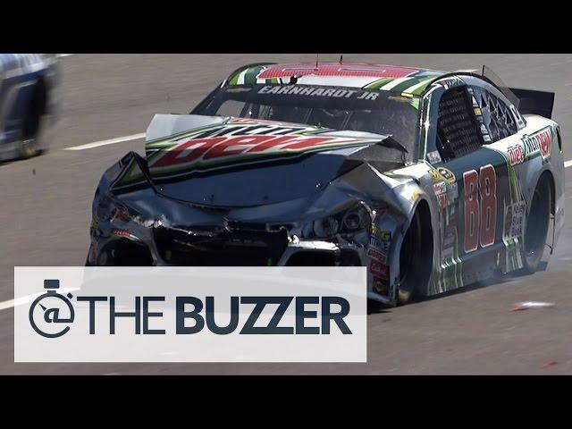 Dale Earnhardt Jr. to Garage after Accordion Wreck - Martinsville - 2015 NASCAR Sprint Cup