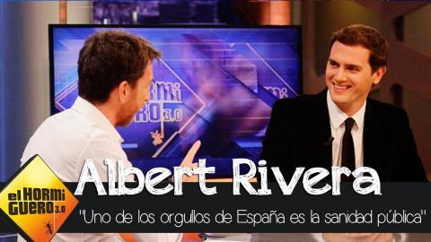 """Albert Rivera: """"Uno de los orgullos de España es la sanidad pública"""" - El Hormiguero 3.0"""