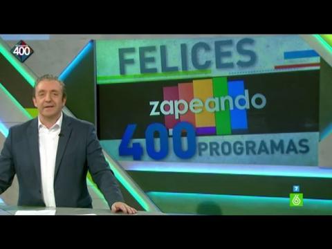 Josep Pedrerol felicita a 'Zapeando' por sus 400 programas
