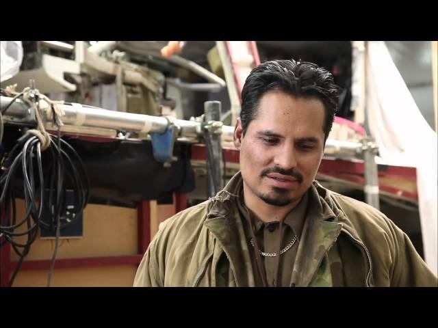 "Fury: Michael Peña ""Trini 'Gordo' Garcia"" Behind the Scenes Movie Interview"