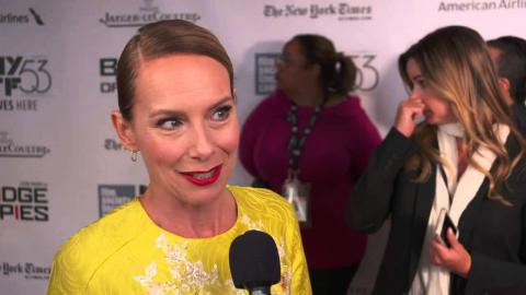 "Bridge of Spies: Amy Ryan  ""Mary Donovan"" Red Carpet Movie Premiere Interview"