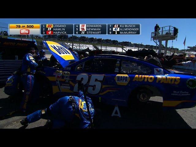 Chase Elliott to Garage in Debut - Martinsville - 2015 NASCAR Sprint Cup