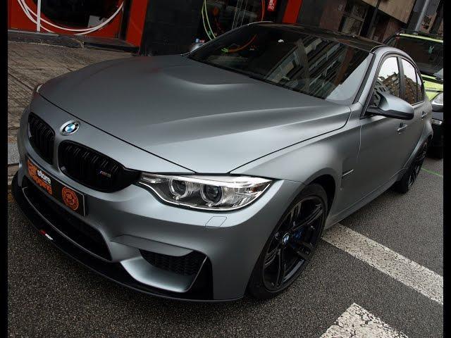 Impresionante! BMW M3 F80 integral en Gris Mate Metalizado by Pronto Rotulo Car Wrap since 1993