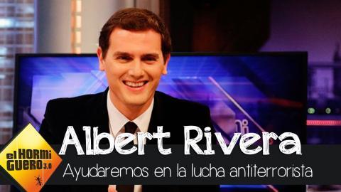 """Albert Rivera: """"Si la UE nos pide ayuda contra el terrorismo, se la daremos"""" - El Hormiguero 3.0"""