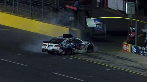 Jimmie Johnson to Garage After Hitting Pit Wall - Charlotte - 2015 NASCAR Sprint Cup