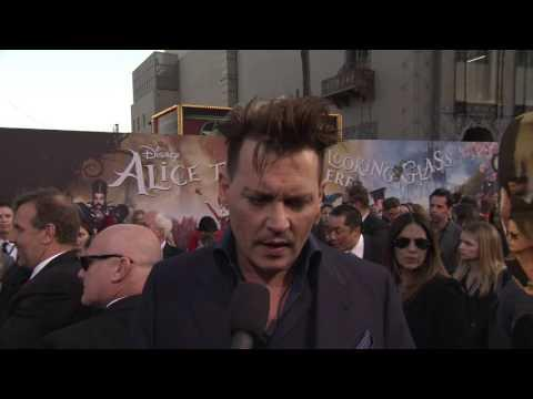 """Alice Through the Looking Glass: Johnny Depp """"The Mad Hatter"""" US Premiere Interview"""