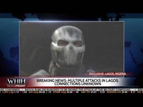Captain America: Civil War: Nigerian Attack with Cap, Black Widow News Report