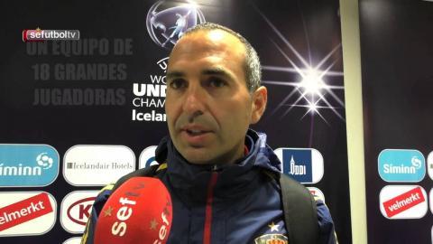 El Seleccionador Pedro López se mostró satisfecho tras el pase a semifinales