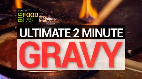 The Ultimate 2-Minute Thanksgiving Bourbon Gravy | Big Food Fast