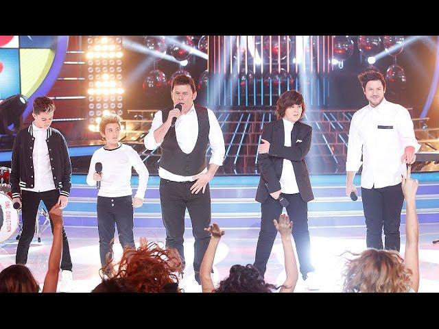 José Luis, Unax, Samuel, Miki Nadal y Daniel Diges imitan a One Direction en Tu cara me suena Mini