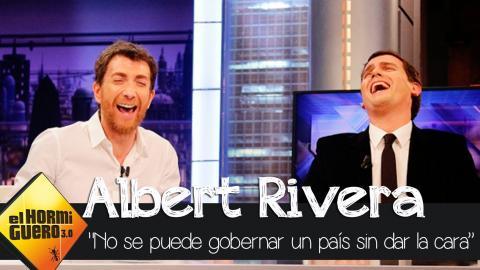 """Albert Rivera: """"No se puede gobernar un país sin dar la cara"""" - El Hormiguero 3.0"""