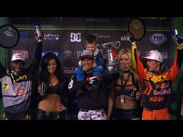Chad Reed Passes James Stewart for Win at Anaheim II - 2014 Supercross