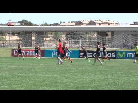 Intensidad y goles en el último entrenamiento antes de viajar a la concentración de Murcia
