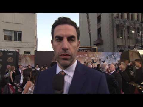 """Alice Through the Looking Glass: Sacha Baron Cohen """"Time"""" US Premiere Interview"""