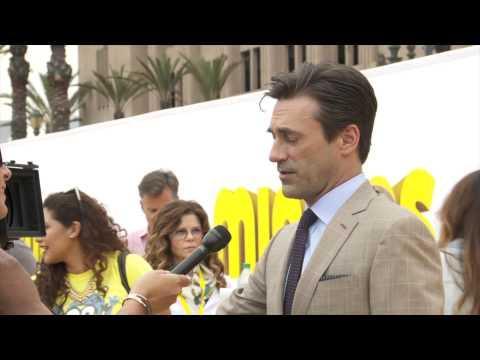 Minions: Sandra Bullock and Jon Hamm Meet the Yellow Guys at the Premiere