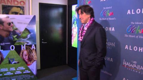 Aloha: New York Screening Arrivals with Director Cameron Crowe & Alec Baldwin