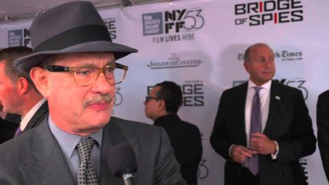 "Bridge of Spies: Tom Hanks ""James Donovan"" Red Carpet Movie Premiere Interview"