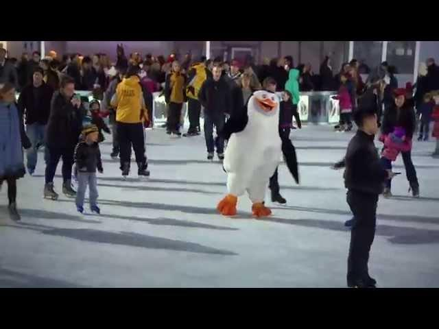Penguins of Madagascar: Movie Premiere Ice Skating