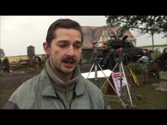 """Fury: Shia LaBeouf """"Boyd 'Bible' Swan"""" Behind the Scenes Movie Interview"""