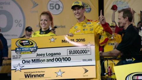 Joey Logano hasn't decided how to spend his million dollars - 'NASCAR Race Hub'