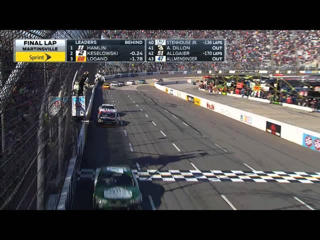 Denny Hamlin Holds Off Brad Keselowski for Win - Martinsville - 2015 NASCAR Sprint Cup