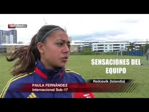 Paula Fernández y Leyre Monente nos cuentan cómo está la Selección antes de medirse a Islandia