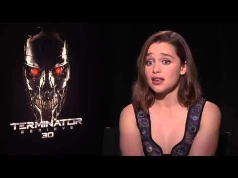 "Terminator: Genisys: Emilia Clarke ""Sarah Connor"" Official Movie Interview"