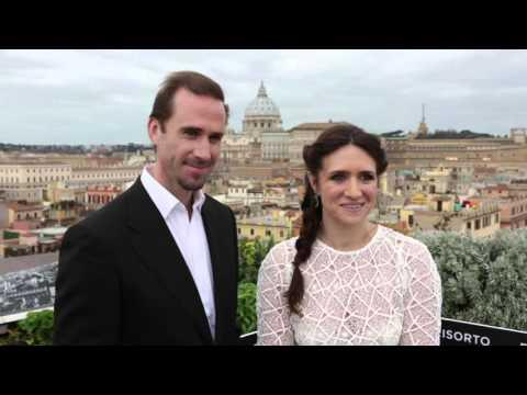 Risen: Joseph Fiennes & Maria Botto attend Pope Francis Weekly General Audience