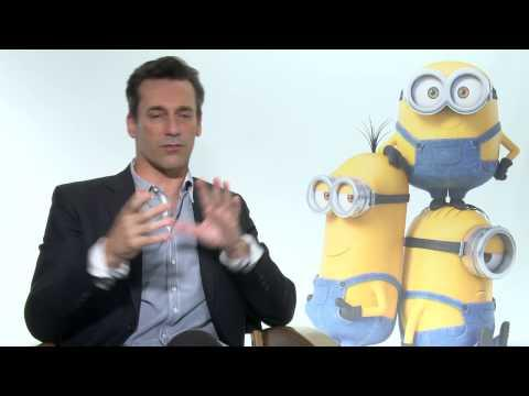 Minions: John Hamm Official Movie Interview Part 1
