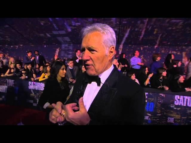 SNL 40th Anniversary:  Alex Trebek Red Carpet Interview