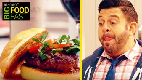 HOW TO: Malbec Wine Infused Burger by Adam Richman | Big Food Fast
