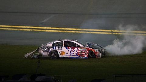 Brian Vickers Wrecks Hard into Outside Wall - Sprint Unlimited - 2016 NASCAR Sprint Cup