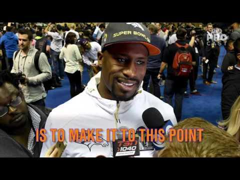 Vernon Davis delivers a personal message before Super Bowl 50