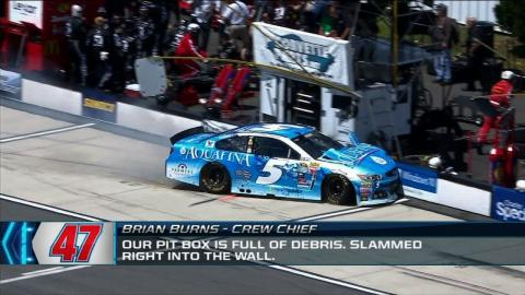 "Radioactive from Pocono - ""Our Pit Box is Full of Debris."" - NASCAR Race Hub"