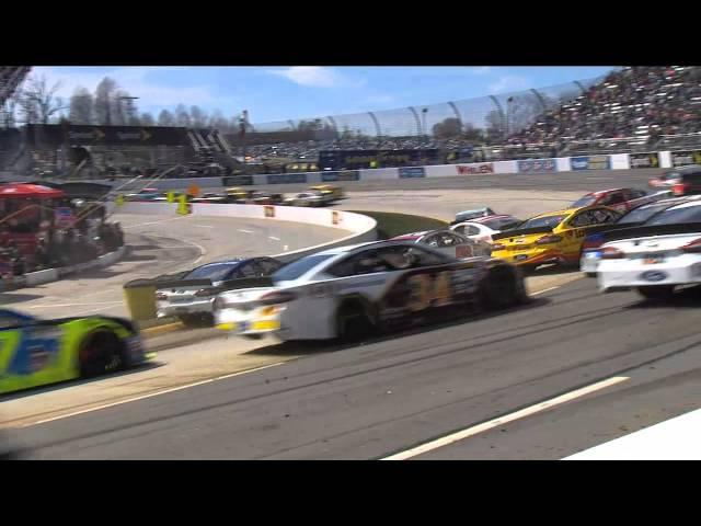 Field Avoids Regan Smith After Spin - Martinsville - 2015 NASCAR Sprint Cup