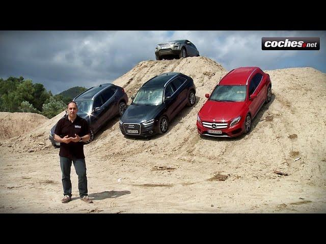Comparativo Coches.net: Mercedes GLA, Range Rover Evoque, Audi Q3, BMW X1 - Prueba / Review (2014)